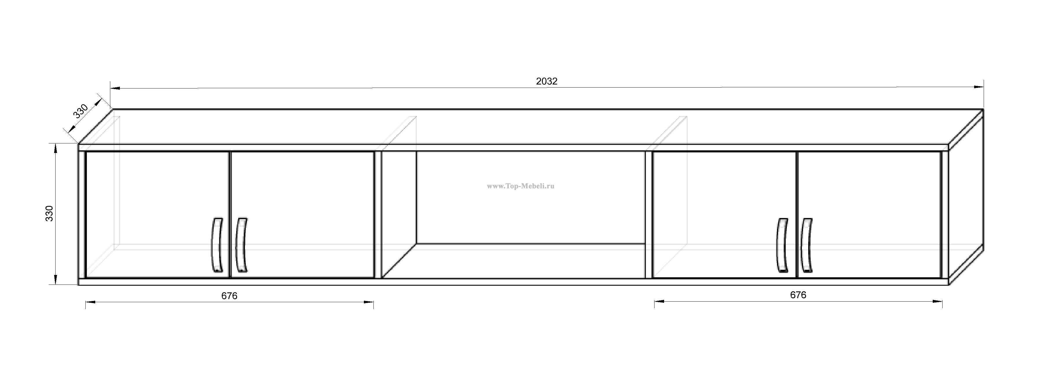 Размеры навесного шкафчика