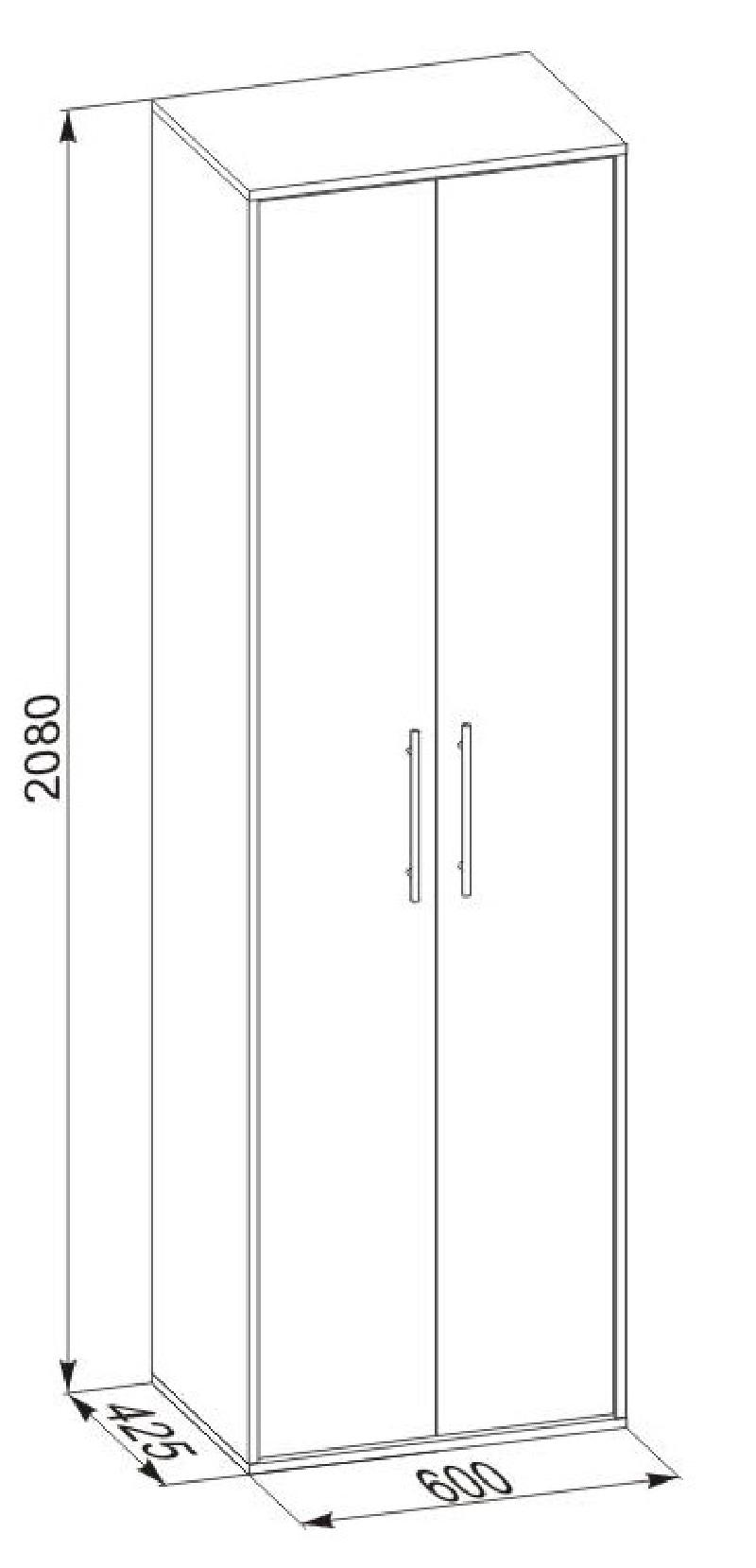 Размеры шкафа пенала