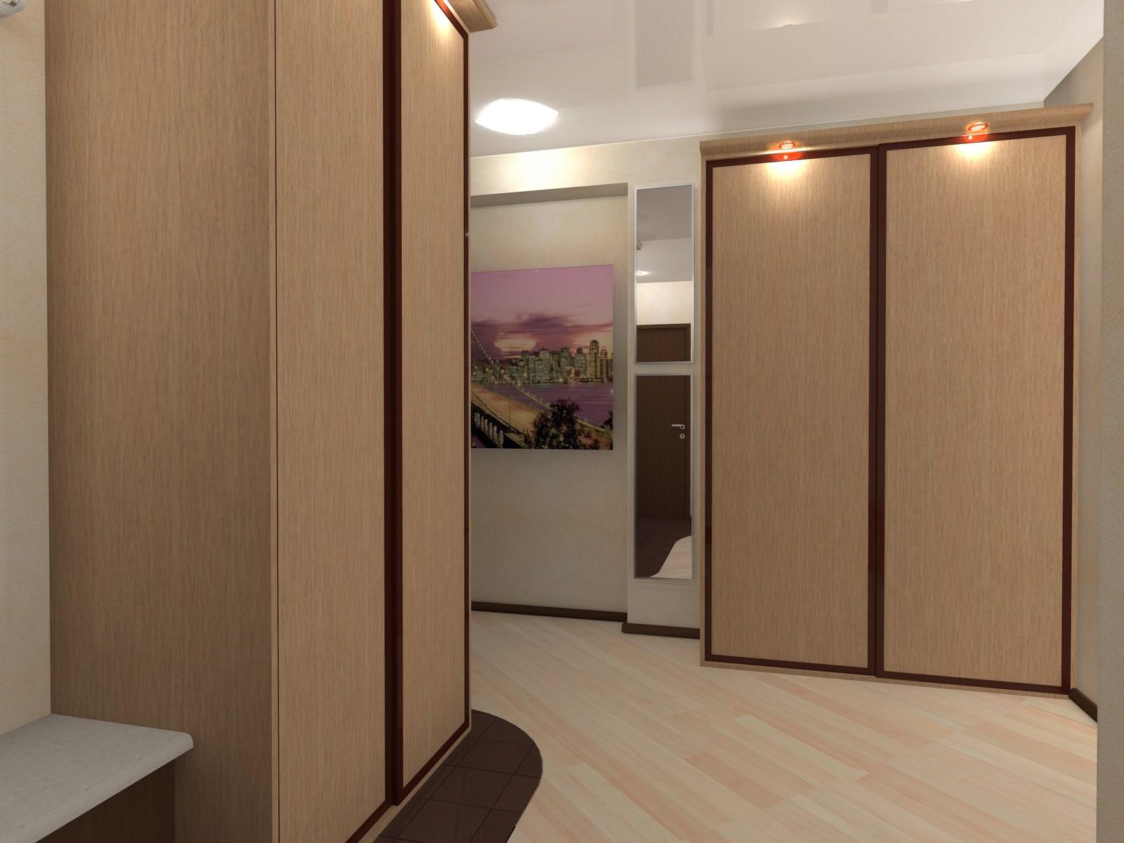 Размещение шкафов в коридоре