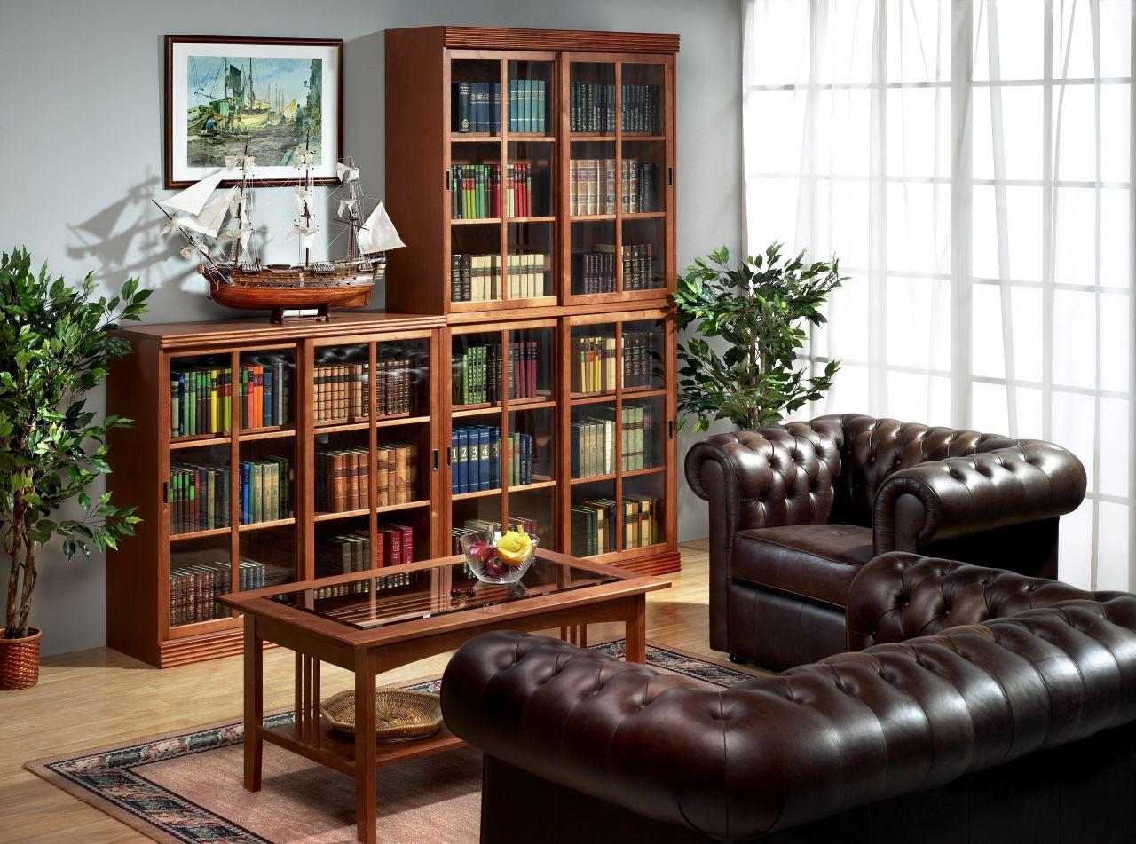 Разноуровневый книжный шкаф
