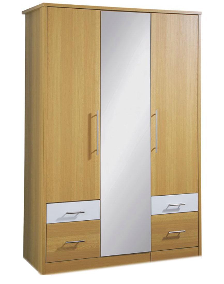 Шкаф для одежды с ящиками и зеркалом
