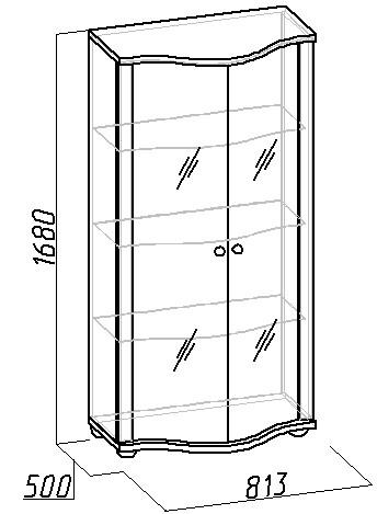 Шкаф для посуды и его размеры