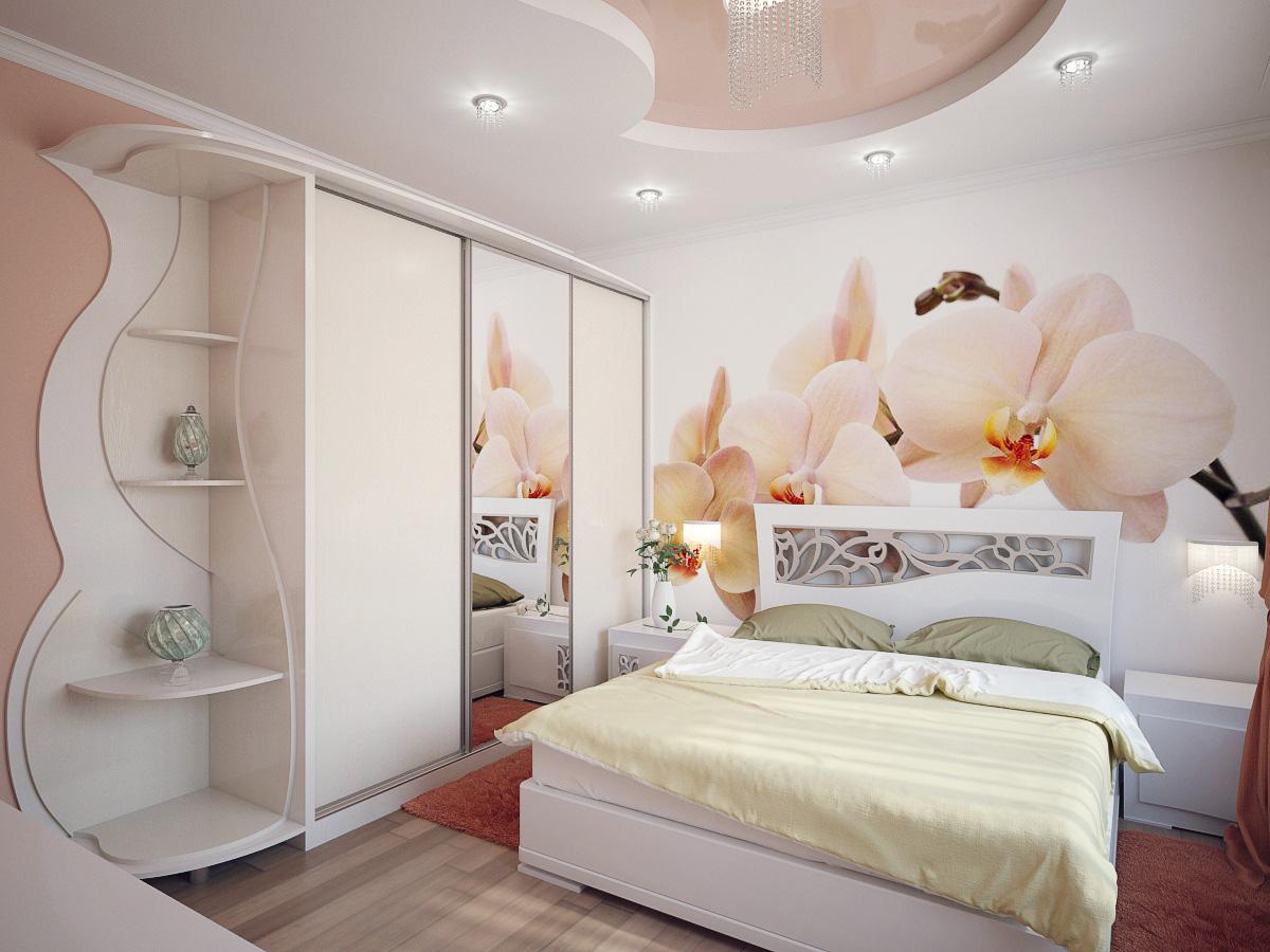 Шкаф-купе с зеркалами в маленькую спальню