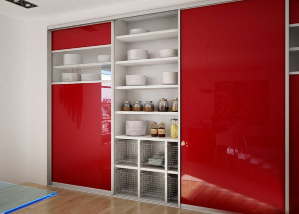 Шкаф купе в кухне