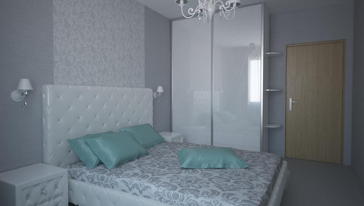 Шкаф купе в спальню белый