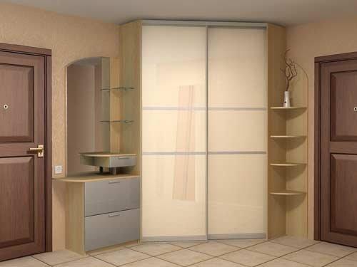 Шкаф с глянцевым фасадом