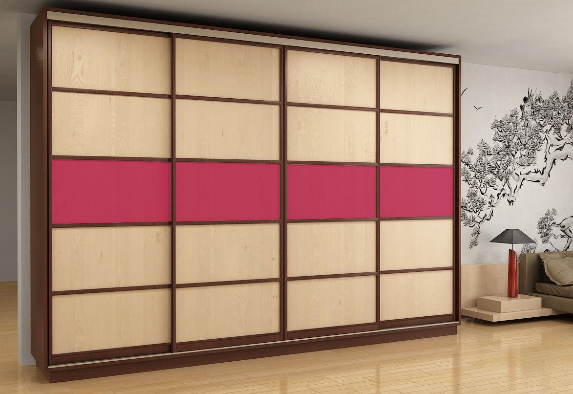 Шкаф с розовой вставкой