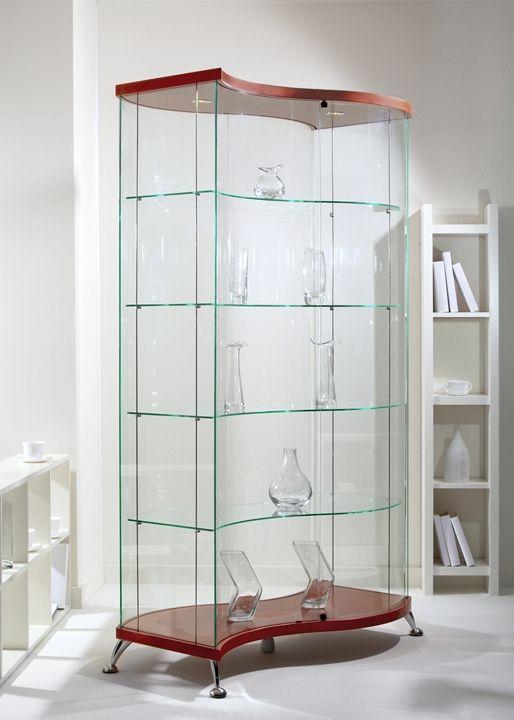 Шкаф витрина оригинальной формы