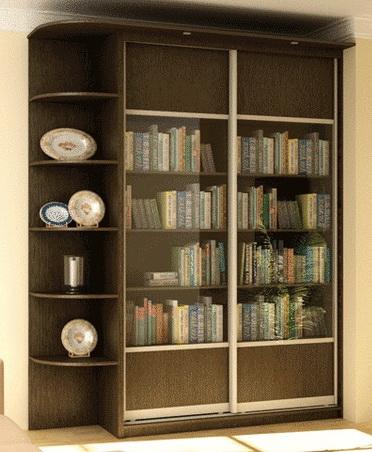 Шкафы книжные со стеклом узкие