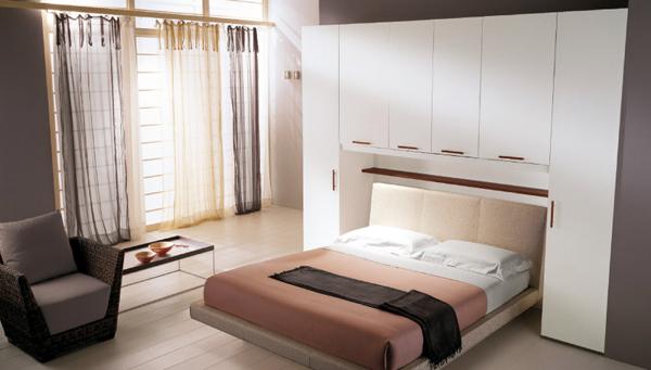 Шкафы над кроватью