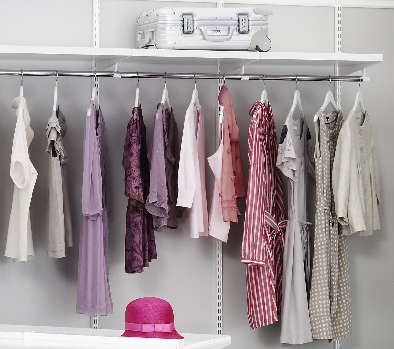 Штанга для одежды на плечиках