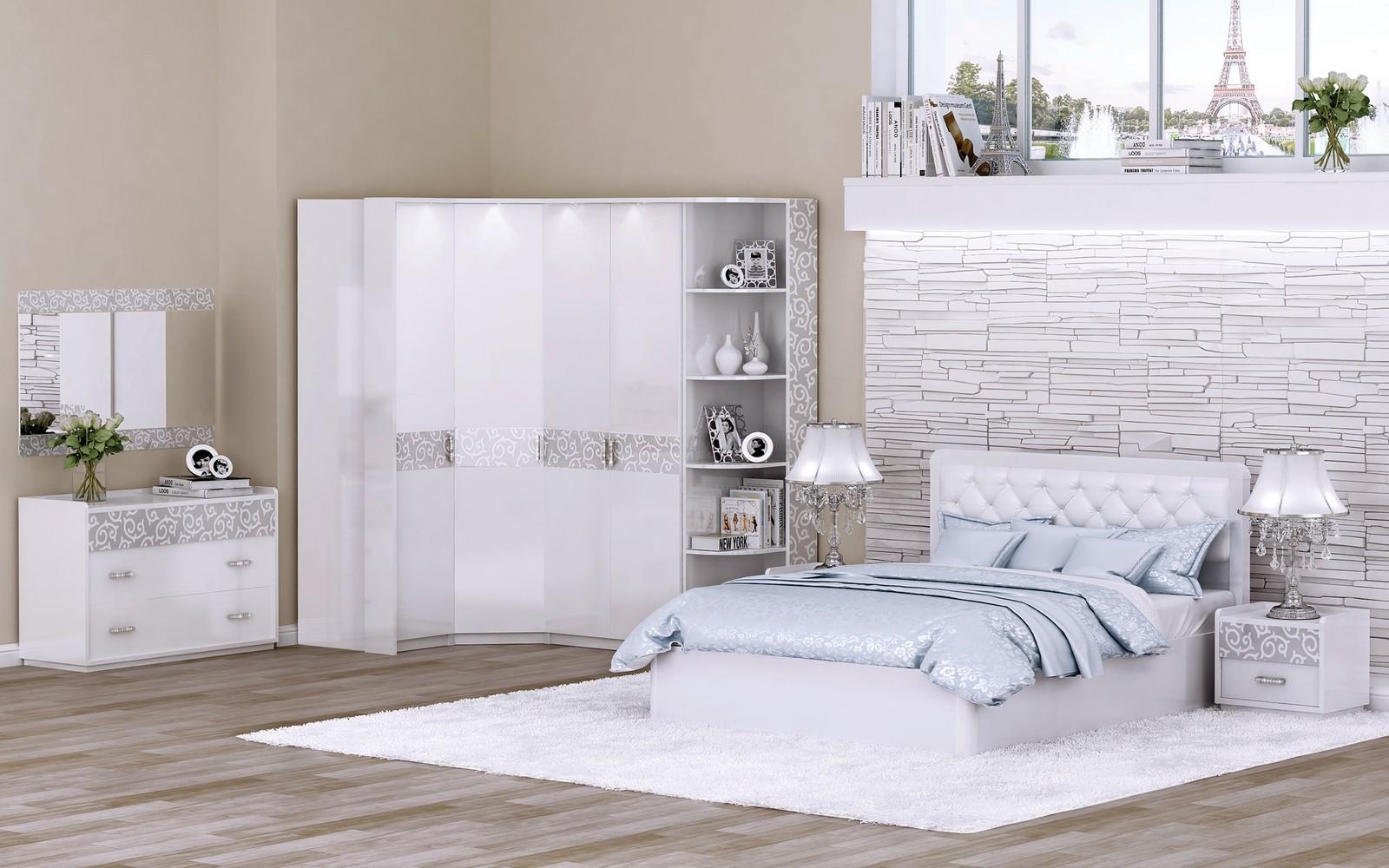 Спальня в белом цвете