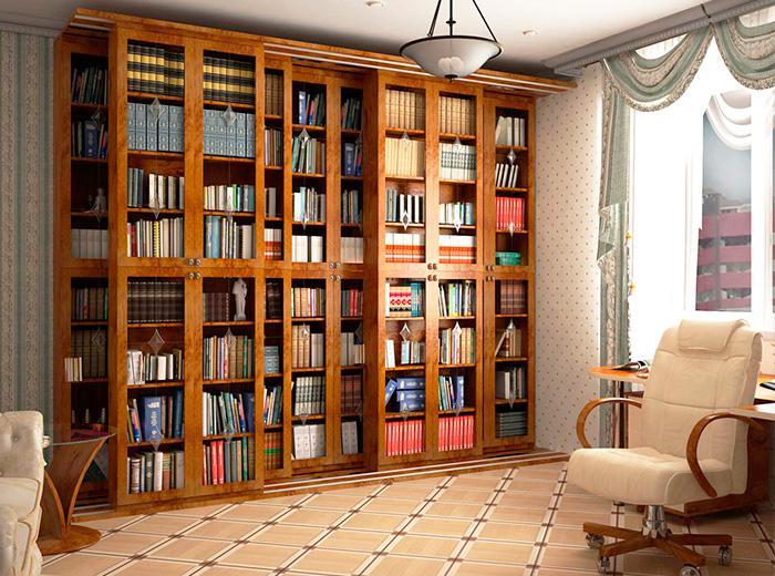 Стеклянный книжный шкаф