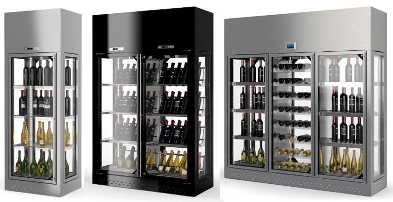 Стеклянный шкаф для вина