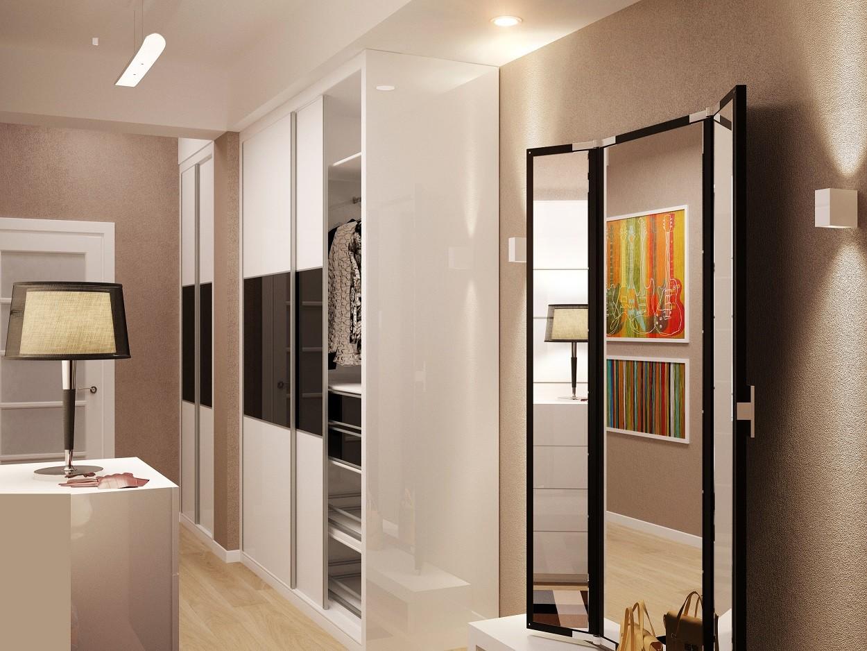 Светлая прихожая комната в новом стиле