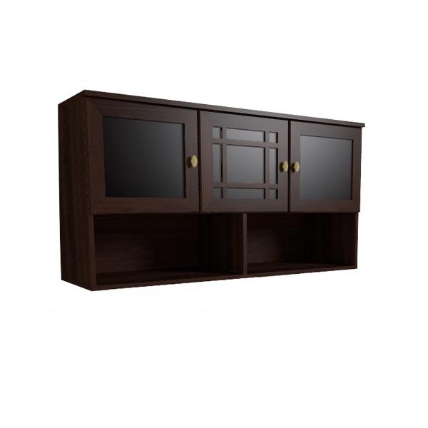 Темный навесной шкаф