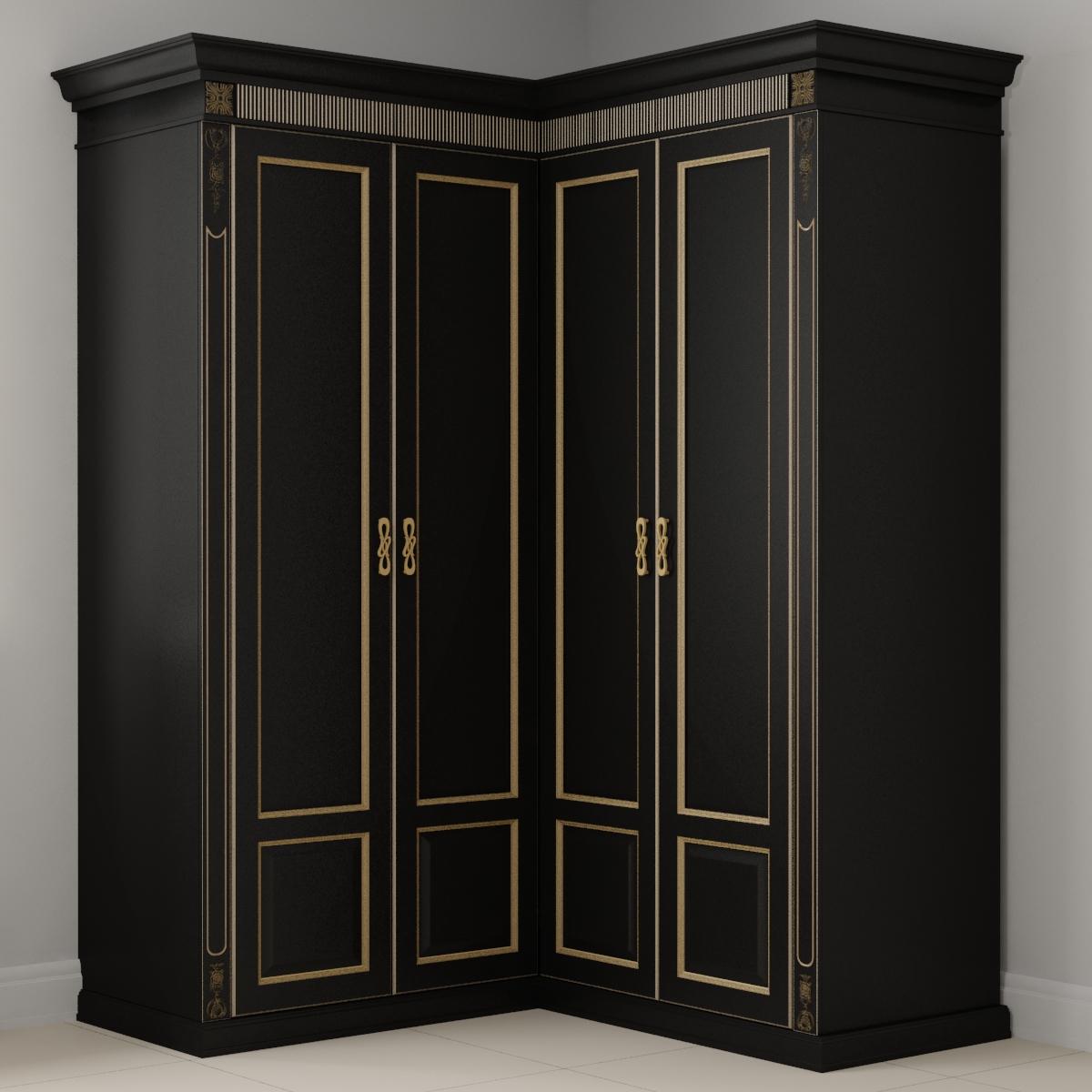 Темный платяной шкаф