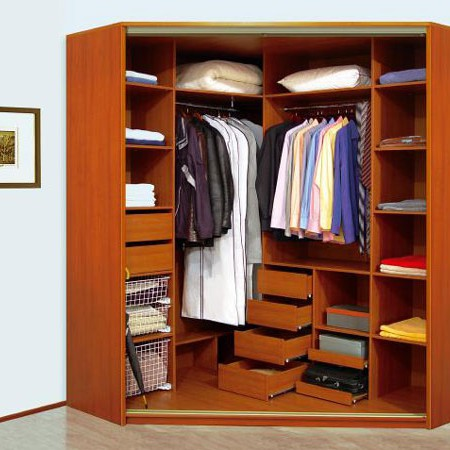 Трапециевидный шкаф