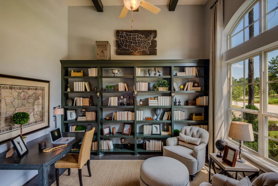 Удобный книжный шкаф