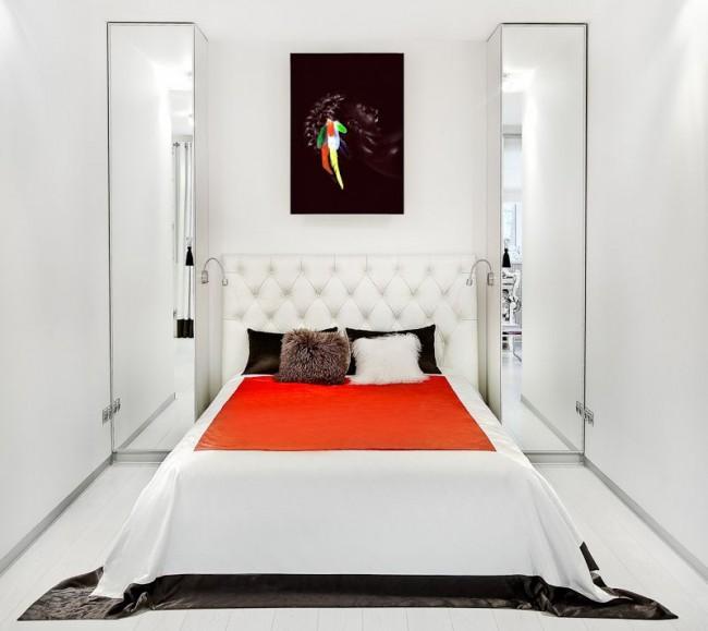 Узкие пеналы в спальню