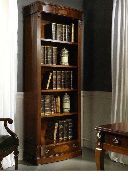 Узкий высокий книжный шкаф