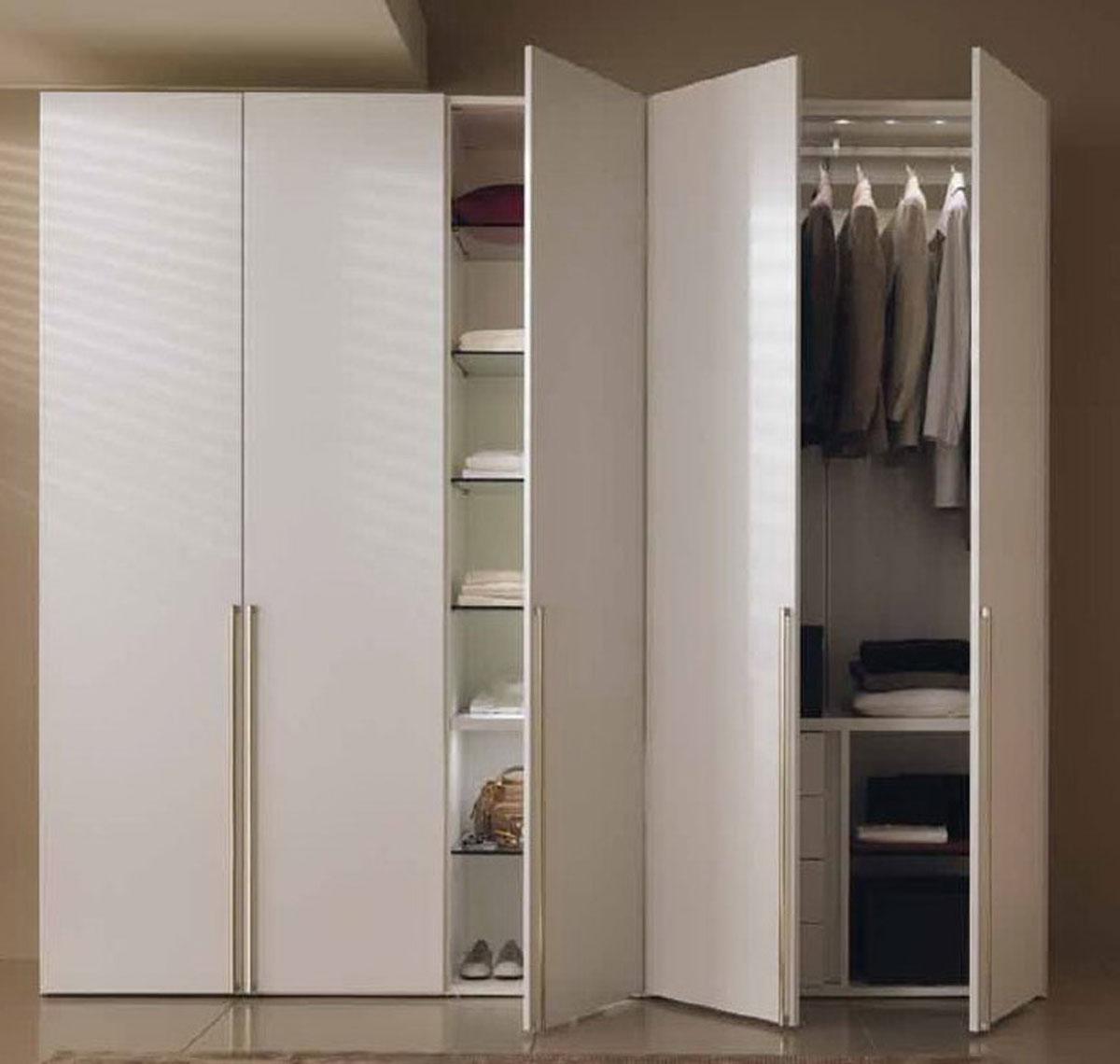 Двери для встроенного шкафа, разновидности и способы декора.