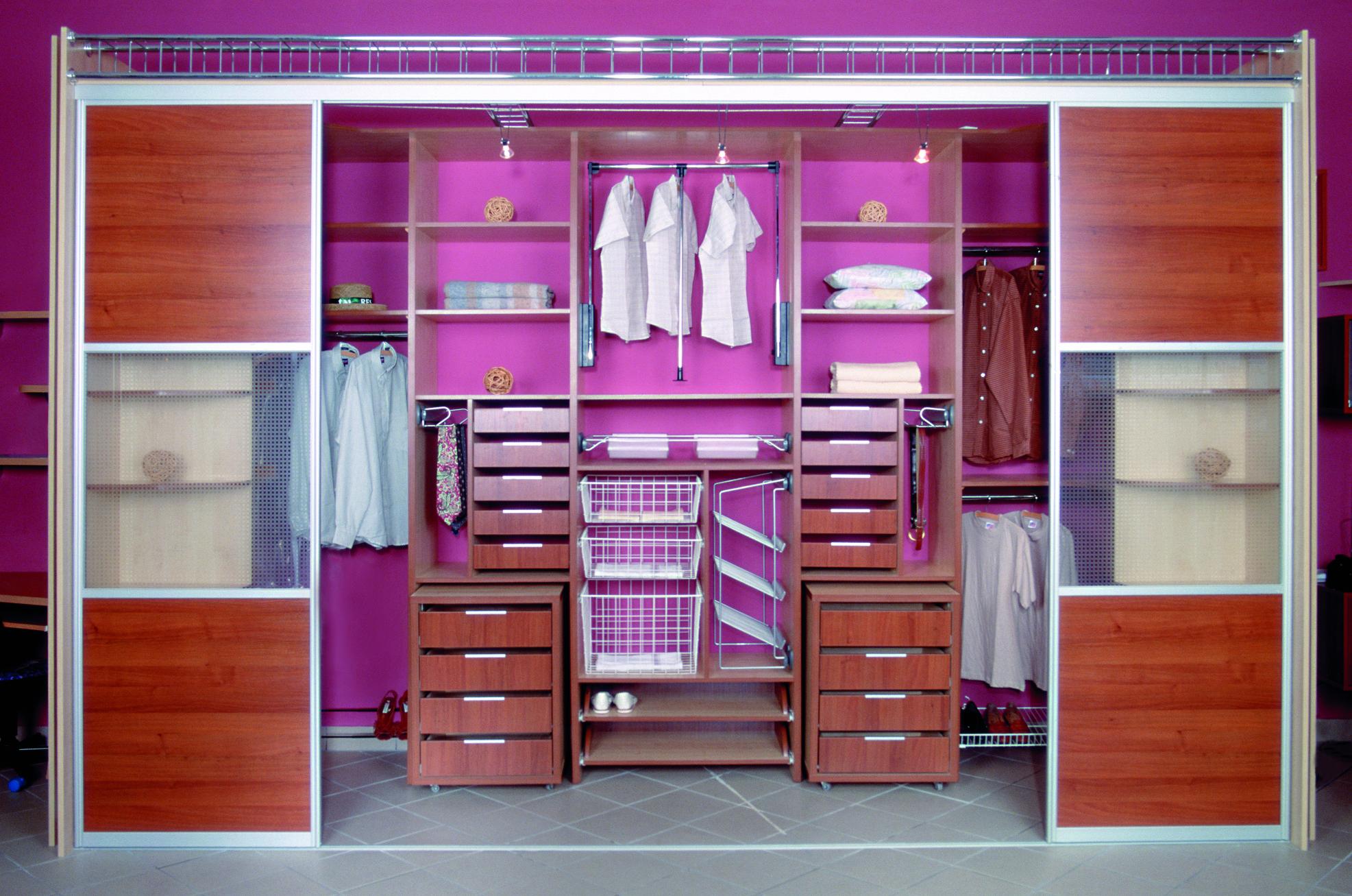 Внутренняя организация пространства шкафа