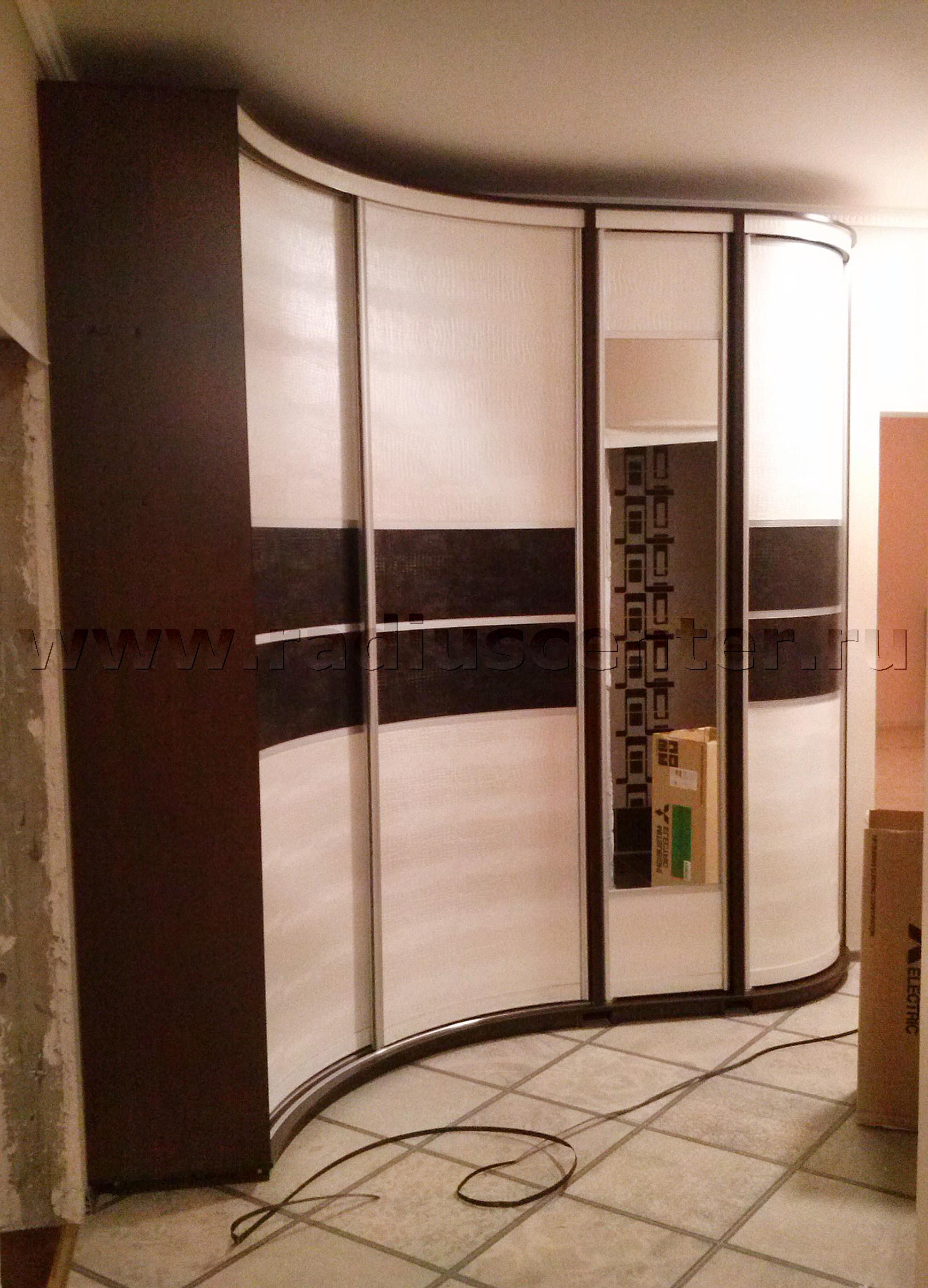 Волнообразный шкаф купе