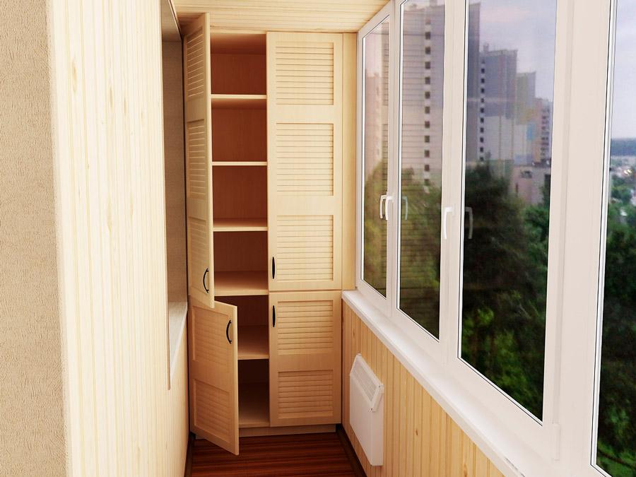 встроенный шкаф на балконе разновидности моделей их плюсы и минусы