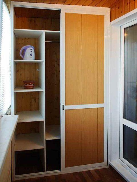 Встроенные шкафы своими руками на балкон