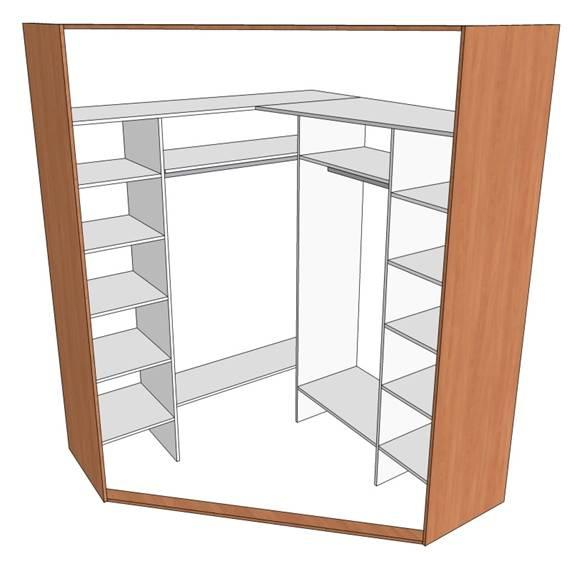 Как сделать шкаф купе своими руками угловой схема чертеж.