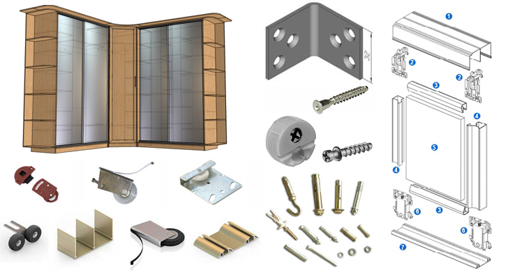 Детали для сборки мебели