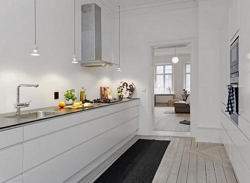 Дизайн кухни без верхних шкафов