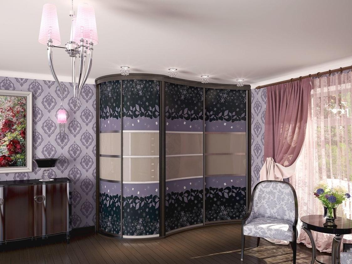 Дизайнерский угловой шкаф