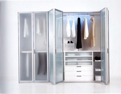 Двери гармошка с матовым стеклом