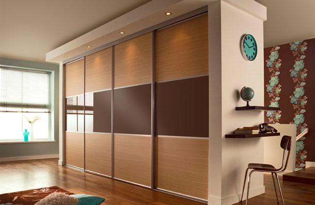 Двери купе для строенного шкафа