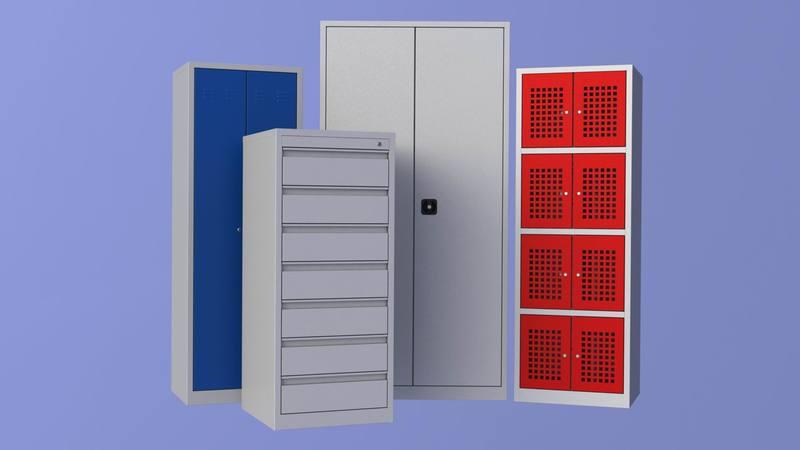 Фасады металлических шкафов