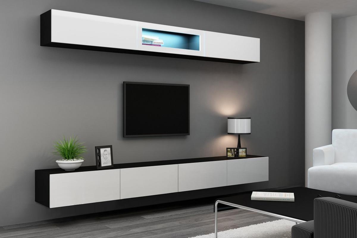 Глянцевая мебель в современную гостиную