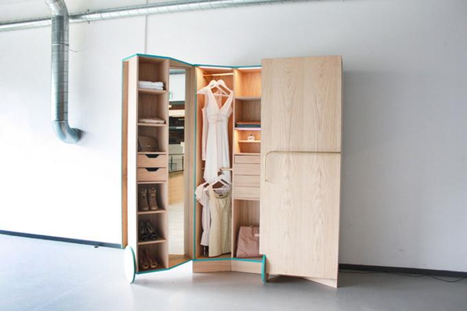 Интересный шкаф под одежду