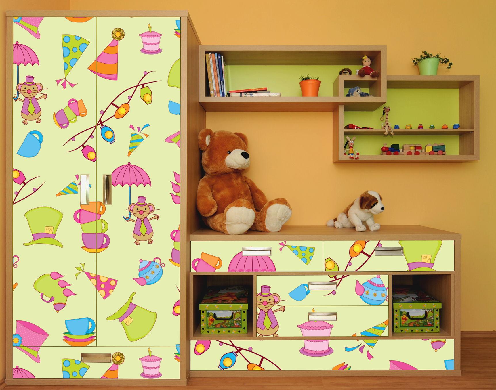 Картинки самоклейка на мебель детскую