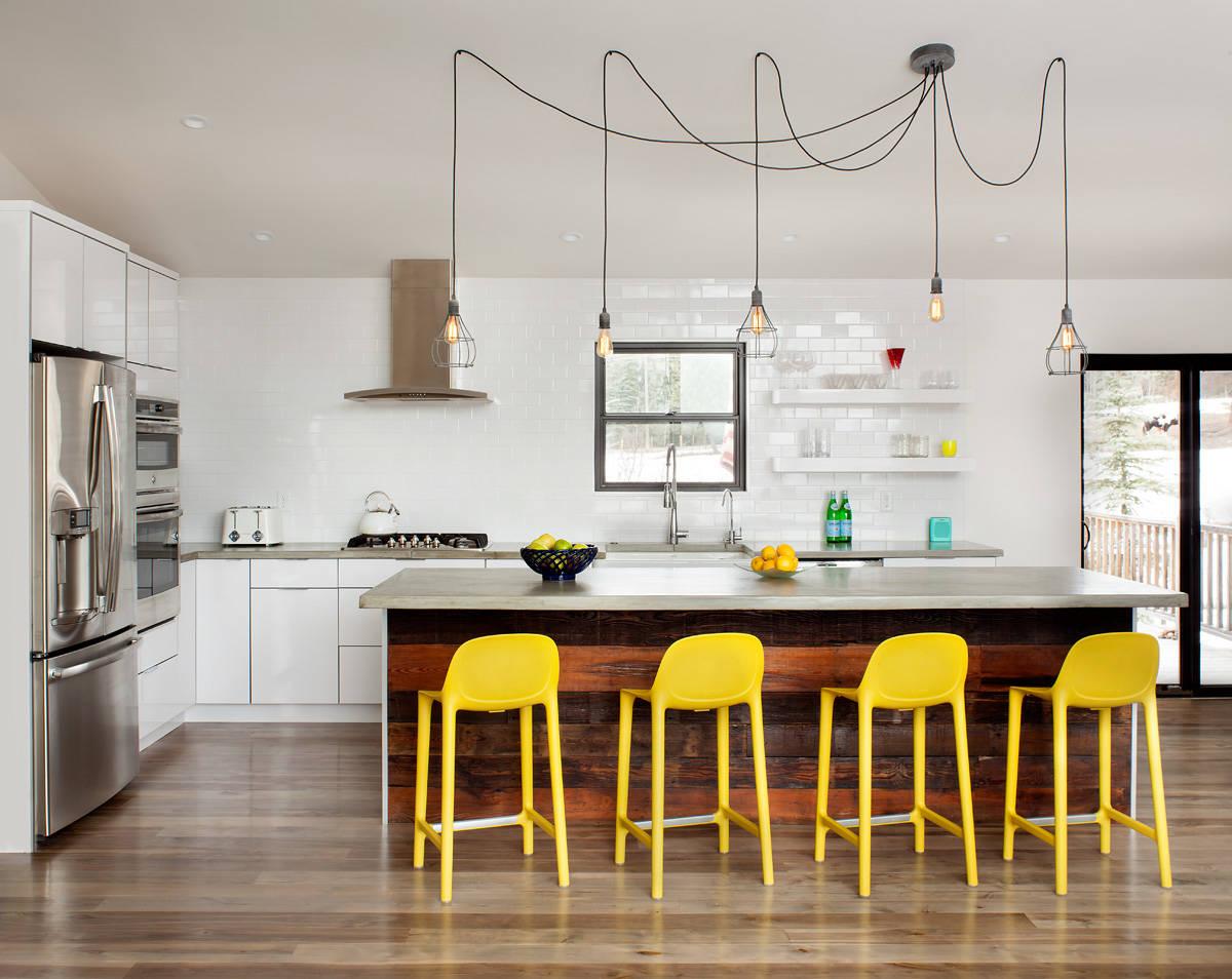 Кухня без верхних навесных шкафов дизайн фото время