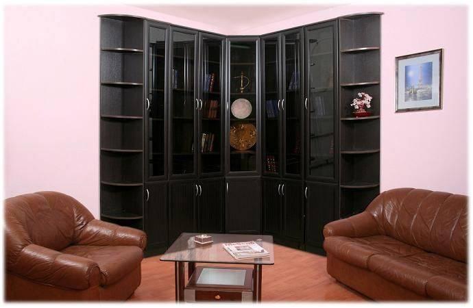 Мебель угловая в черном цвете