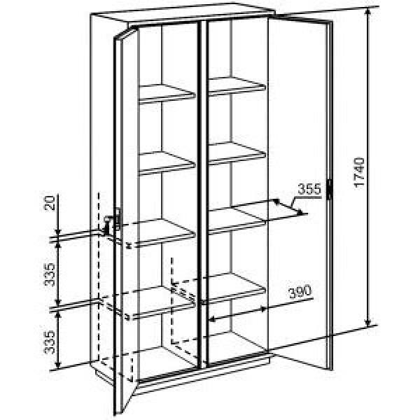 Металлический архивный шкаф