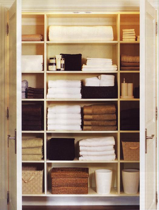 Наполнение шкафа для белья