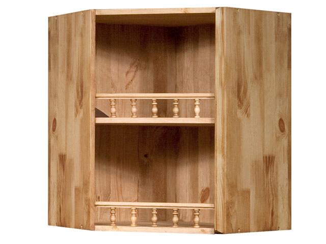 Настенный угловой шкаф