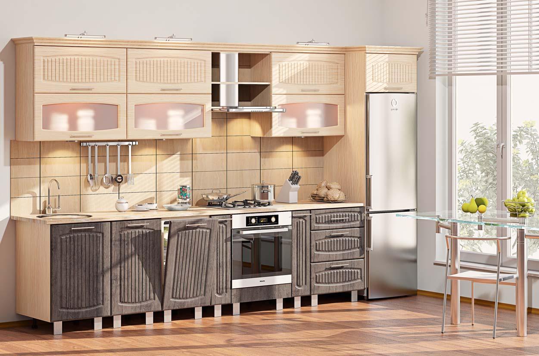 Размеры и расположение кухонных шкафов