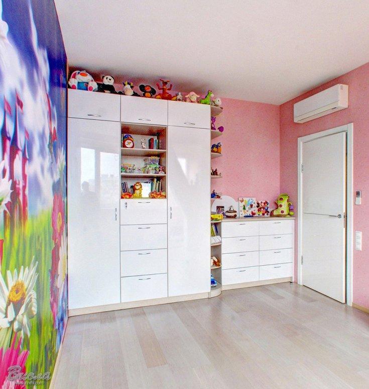 Шкаф белый для девочки в комнату