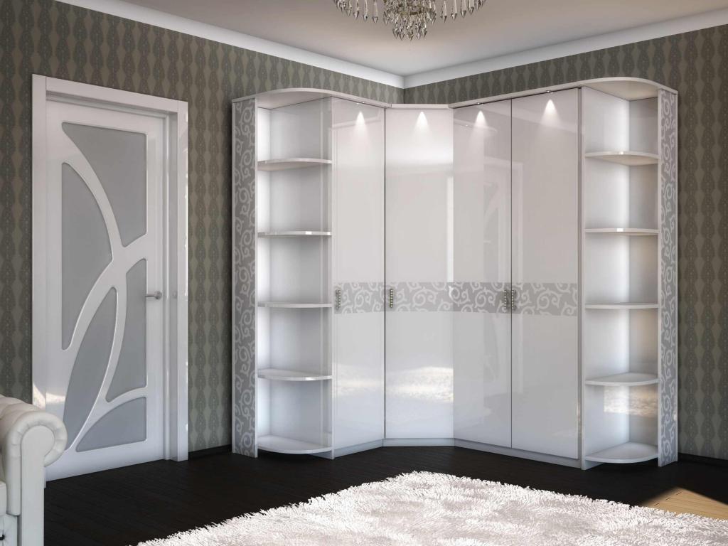 Шкаф белый с подсветкой