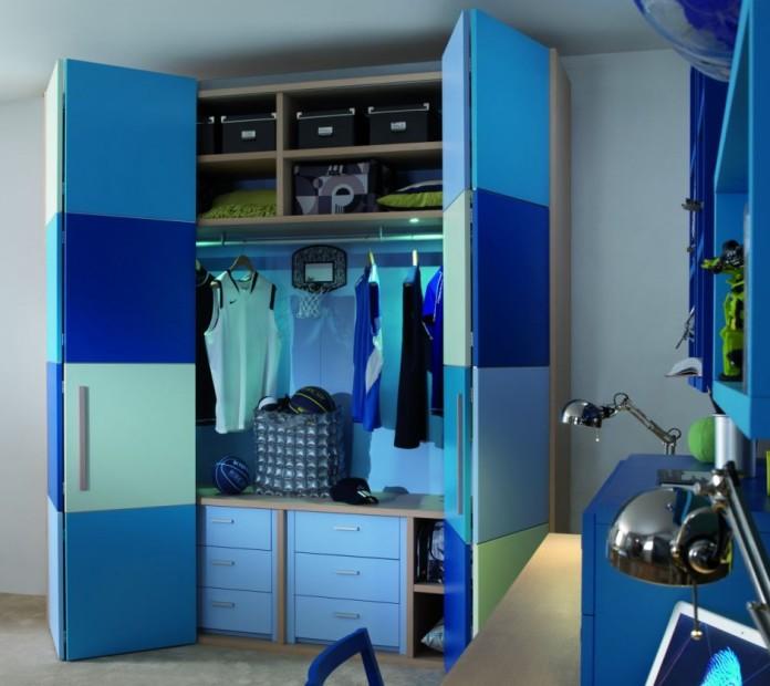 Шкаф гармошка для мальчика