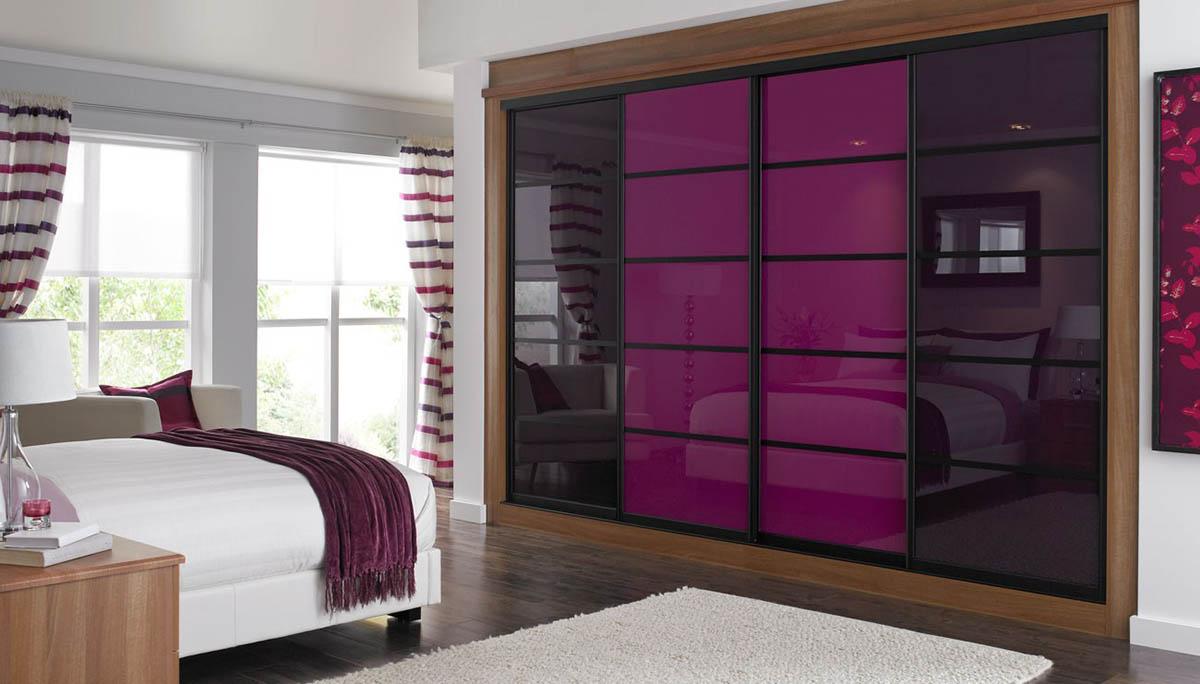 Шкаф-купе фиолетовый